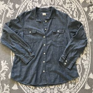 J Crew Blue Button Down XL